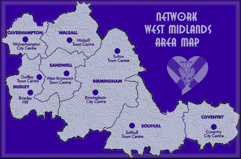 Network West Midlands Area Map