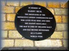 Harry Beck Plaque
