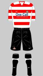 doncaster rovers 2010-11 home kit