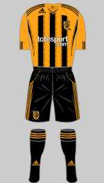 hull city 2010-11 home kit