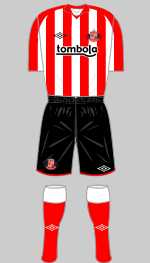 sunderland 2010-11 home kit
