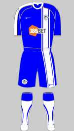 wigan athletic 2010-11 home kit